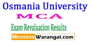 Osmania University MCA August 2016 Revaluation Results