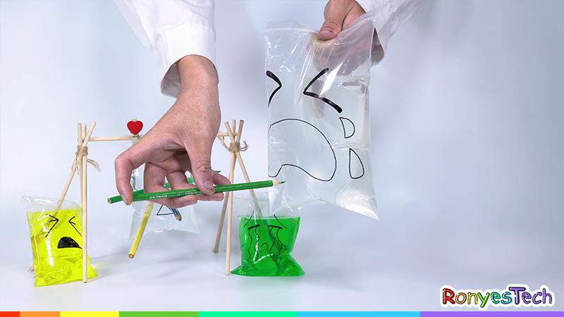 Leak Proof Zip Lock Bag Easy Science Experiment