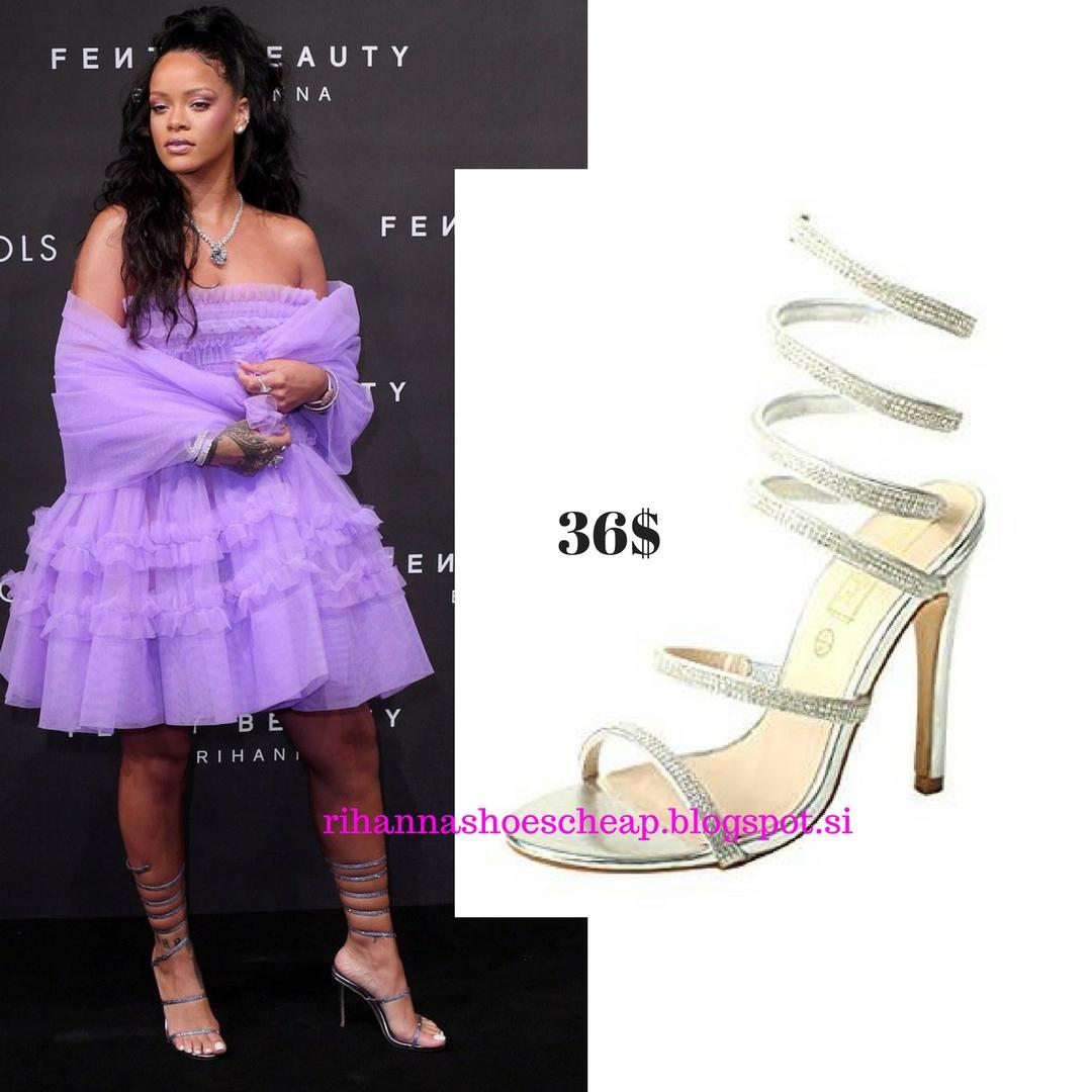 c1ec1b51e8a RIHANNA shoes cheap 28  Snake Silver Rhinestone Crystal Heel Sandals Rene  Caovilla Snake Sandals