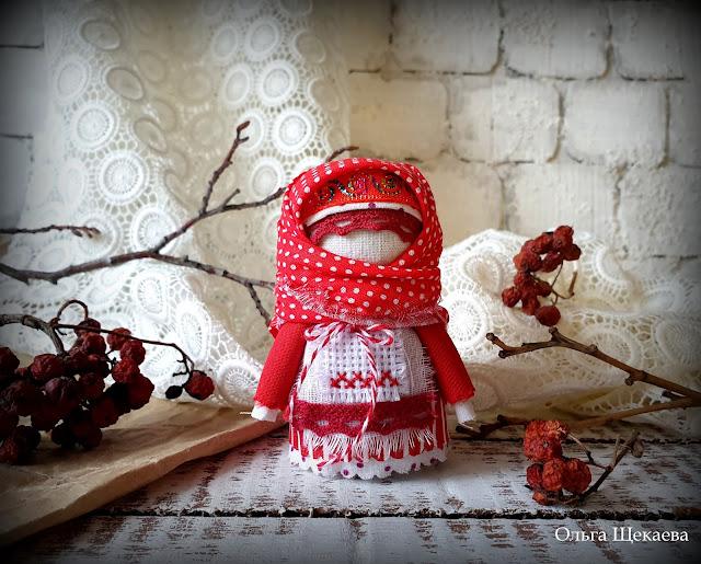 мотанка, оберег, кукла, крупеничка, зерновушка, красная,
