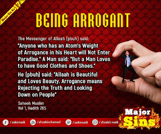 MAJOR SIN. 17.2. BEING ARROGANT