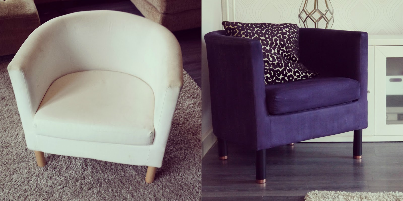 ikea tub chair covers uk 3 seat rocking diy makeover makery bloglovin