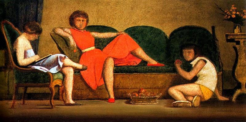Três Irmãs - Balthus e sua fixação por garotas e gatos ~ Pintor francês