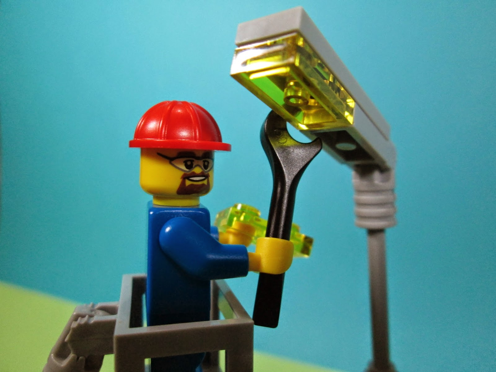 Set LEGO City 60054 - camião para reparar iluminação