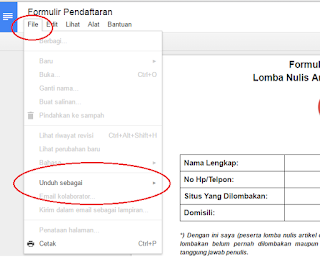 download formulir catfiz