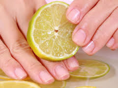 lemon for nails