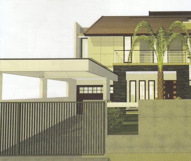 Rumah Tingkat dengan Taman Yang Lega di Belakang Rumah