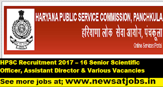 HPSC-Recruitment-2017-16 Senior-Scientific-jobs