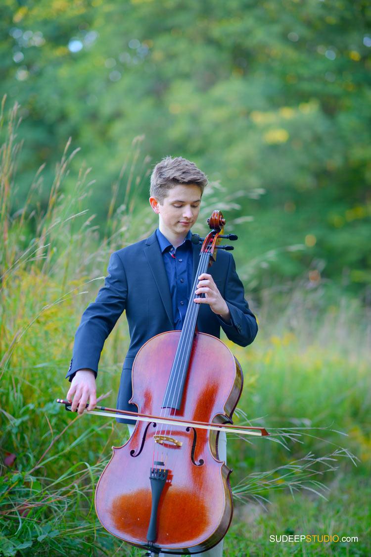 Musician Portraits Outdoors Cello Music Album Cover Photography SudeepStudio.com Ann Arbor Music Commercial Photographer