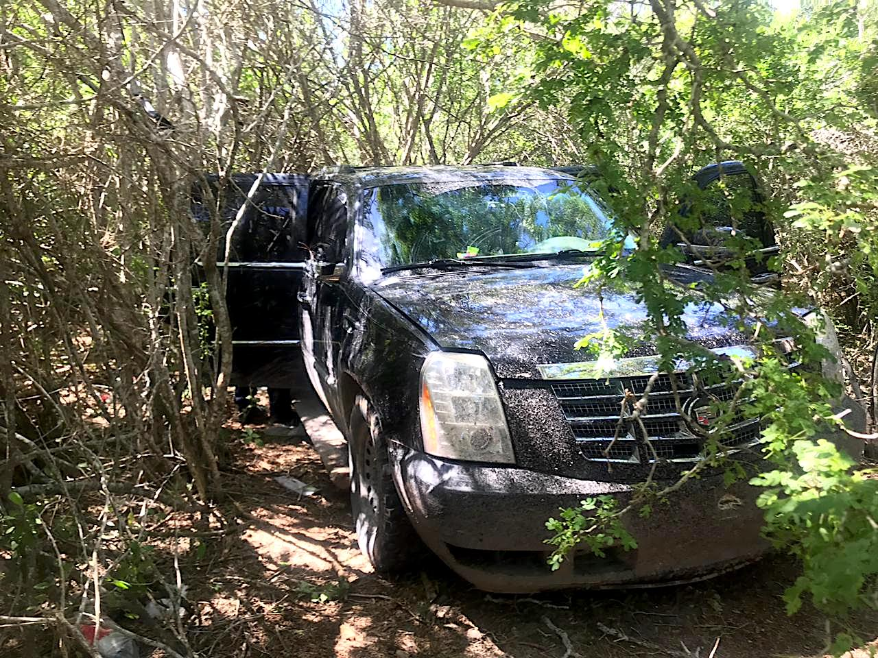 IMÁGENES: Estatales Encuentran vehículos con blindaje y armas en brecha de San Fernando
