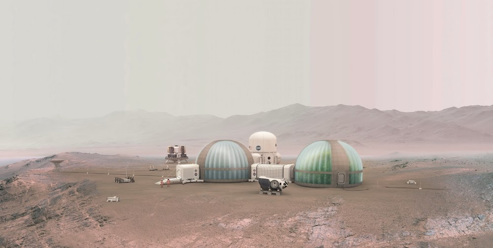 Mars Ice Home surroundings by NASA, SEArch+ & Clouds AO