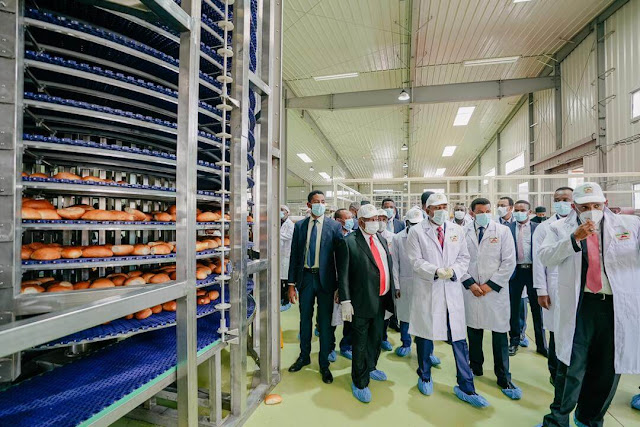 Ethiopia Prime Minister Abiy Ahmed launch 80,000 loaves per hour Sheger Bread Factory