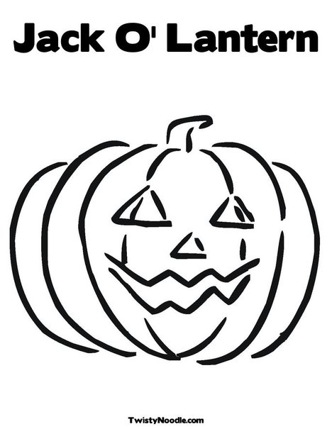 The mommy years jack o lantern coloring sheet for Jackolantern coloring pages