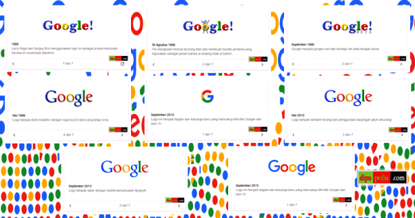 Riwayat Logo Google 1998-2015 - Dipopedia