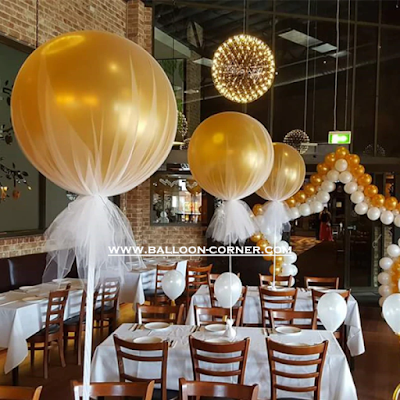Balon Latex Metalik Gold 24 Inch Kualitas SUPER Grade A