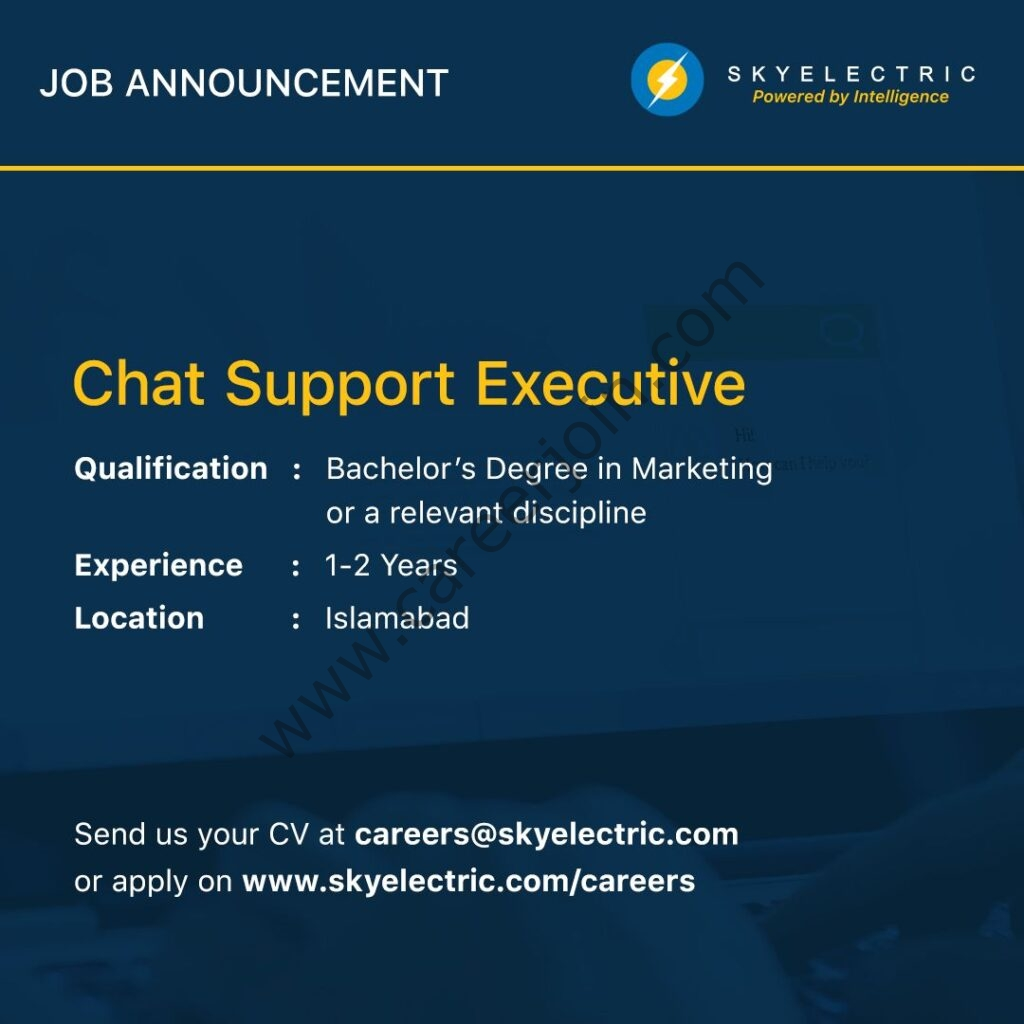 SkyElectric Pvt Ltd Jobs Chat Support Executive