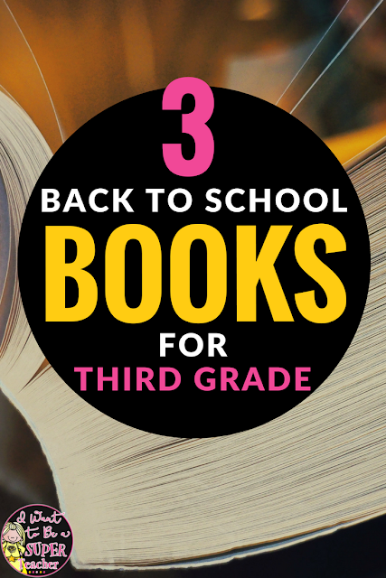 These super books for back to school are perfect for 3rd grade students. Teachers can add these back to school book ideas to their first week reading list and use them as classroom read alouds linked to art projects, teambuilding activities, and back to school writing focused on ideas for writing. Click for details and links. #thirdgrade #education #backtoschool #education #backtoschoolbooks