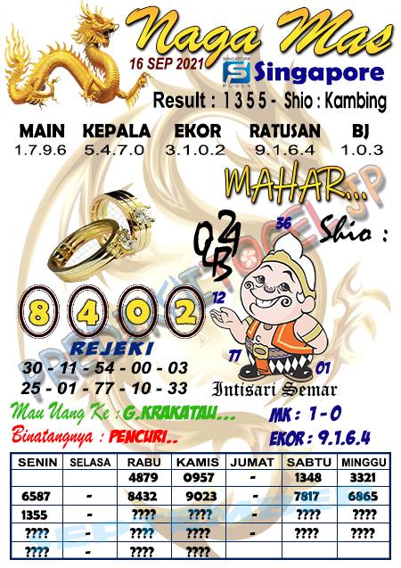 Syair Naga Mas SGP Kamis 16 September 2021