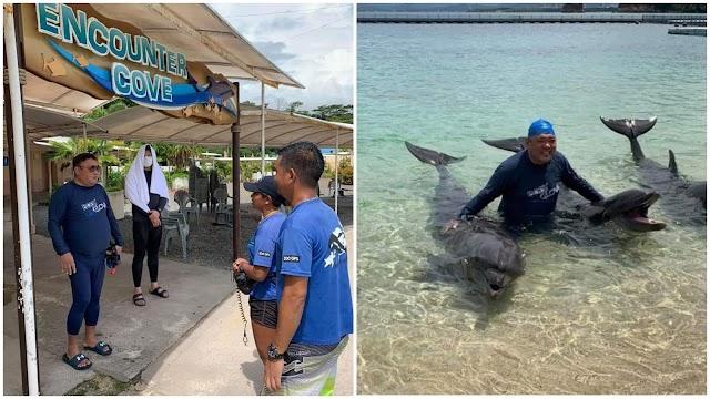 Relax Muna! Harry Roque enjoy na enjoy sa kanyang Ocean Adventure sa Subic ngayon GCQ