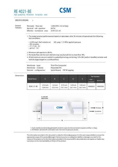 Membran 1000 GPD,
