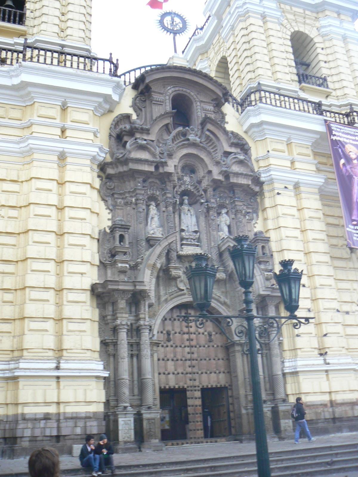 Spaanse koloniale stijl in Lima, Peru