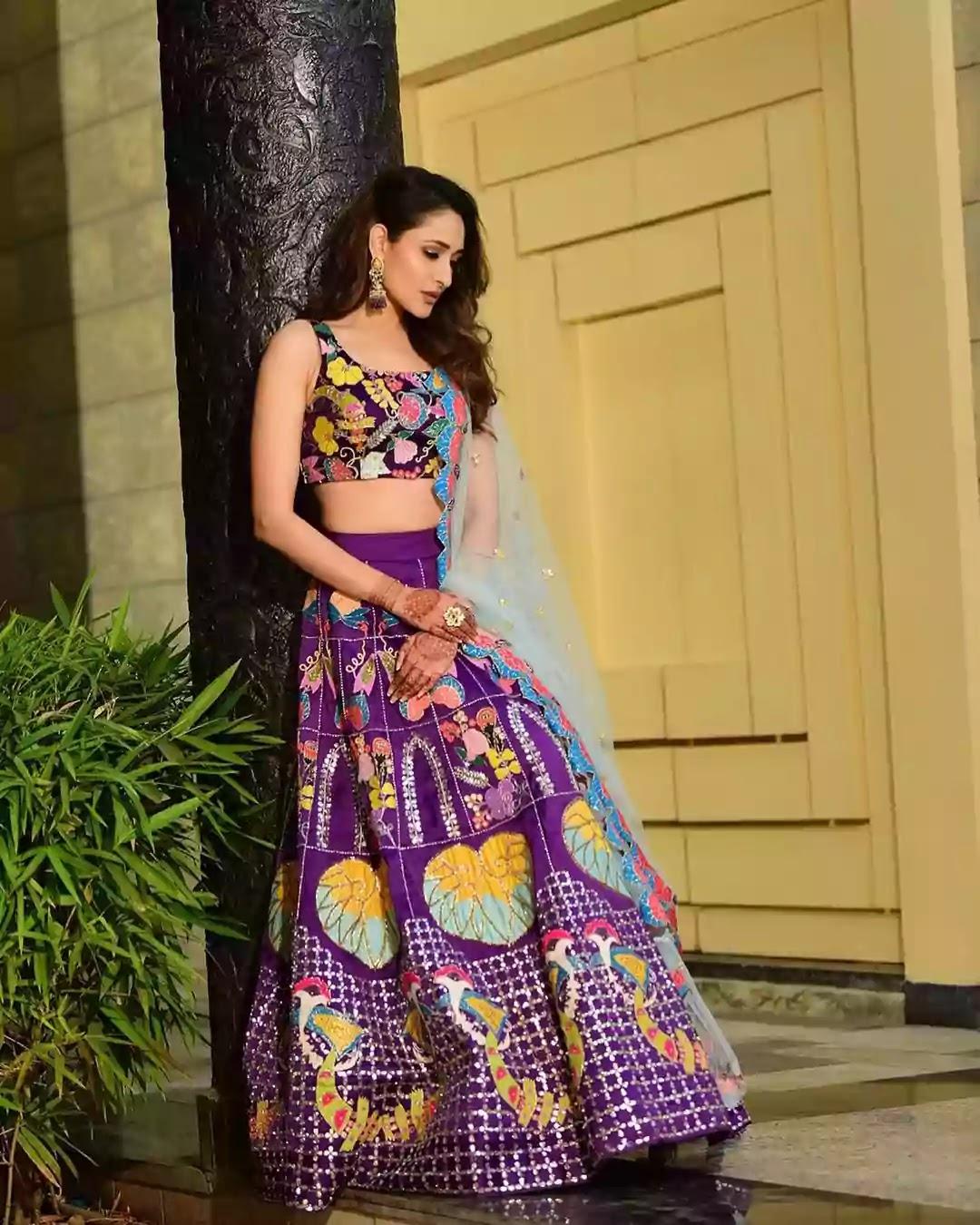 pragya-jaiswal-in-multicoloured-lehenga