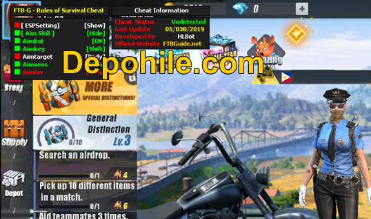 Rules of Survival FTB-G ESP,Aimbot Menu Hilesi Haziran 2019