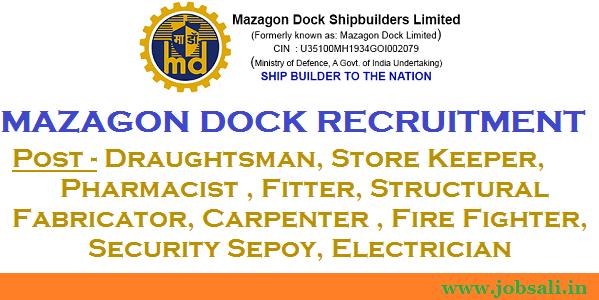Mechanical Engineering jobs, Electrical Engineering jobs, mazagon dock online application form