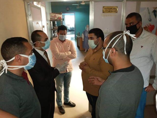 نائب محافظ سوهاج يتفقد مستشفى العسيرات المركزي