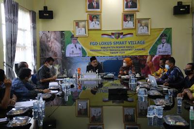 Pjs Bupati Pesibar Hadiri FGD Smart Village Bersama Kadis PMDT Lampung