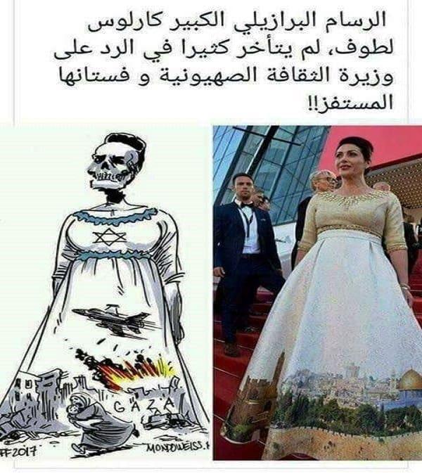 منى المنصورى تفضح وزيرة الثقافة الاسرائيلية.. سرقوا وطنا كاملا فكيف لا يسرقون تصميم فستانى