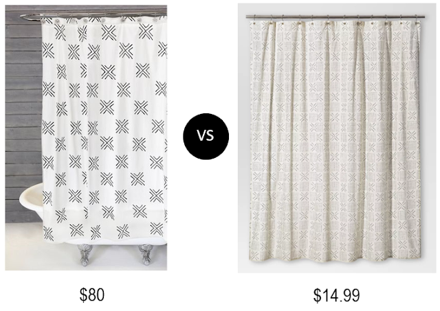 Lulu and Georgia Look for Less Mudcloth Shower Curtain