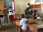 Satgas TNI Sosialisasi Bahaya Covid-19, Ajari Siswa Tata Cara Prokes