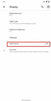 Aktifkan Mode Gelap Di Android 10