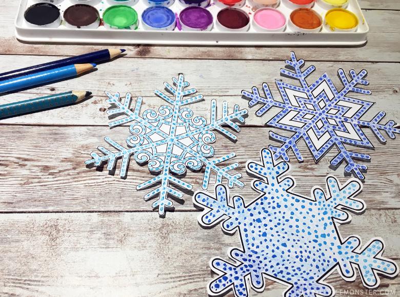 pointillism snowflake craft for kids