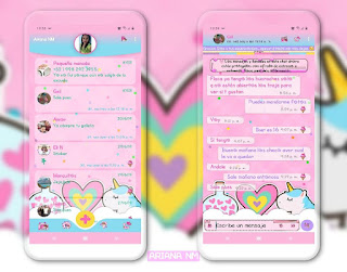 Unicornio colores pastel Theme For YOWhatsApp & Fouad WhatsApp By Ariana NM