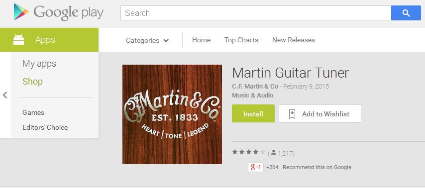 Menyetem Gitar Akustik dengan Martin Tuner App untuk IPad