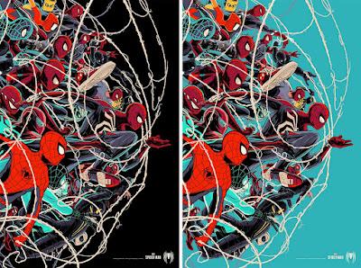 San Diego Comic-Con 2021 Exclusive Marvel's Spider-Man Screen Print by Cesar Moreno x Mondo