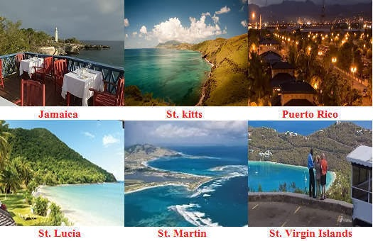 Top travel destinations of Caribbean Islands