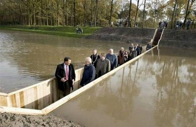 Moses Bridge A Sunken Pedestrian Bridge In Netherlands