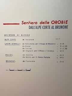 First half of the Sentiero delle Orobie, info - Tito Terzi Exhibit