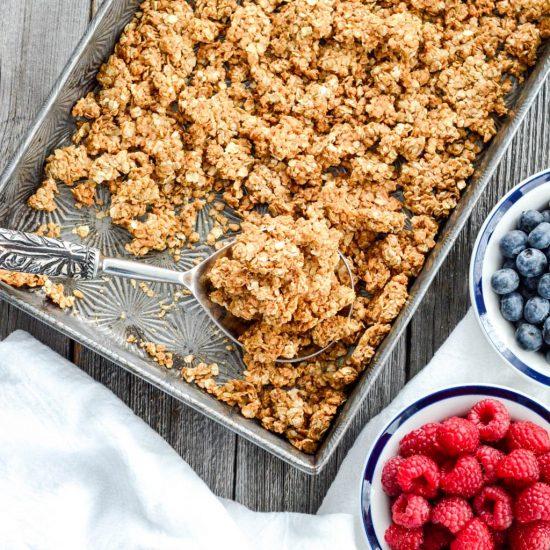 10 healthy breakfast ideas Peanut butter granola with fruit