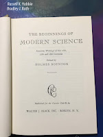 The Beginnings of Modern Science, edited by Holmes Boynton, superimposed on Intermediate Physics for Medicine and Biology.