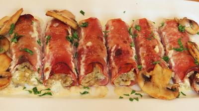 Zapečene rolice od šunke i mozzarelle / Baked ham and mozzarella rolls