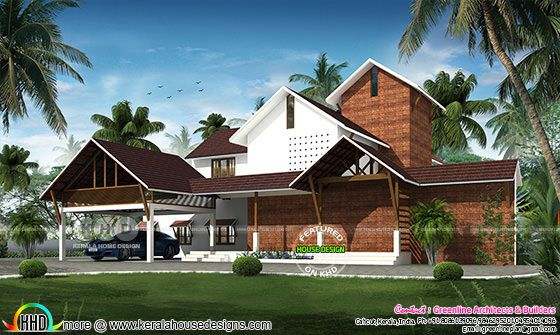 Traditional Kerala home design 3498 square feet