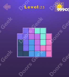 Cheats, Solutions, Walkthrough for Move Blocks Easy Level 23
