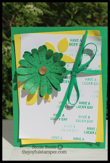 Call Me Cloverl 2018-2020 In Color card using Daisy and Leaf punches, Itty Bitty Greetings