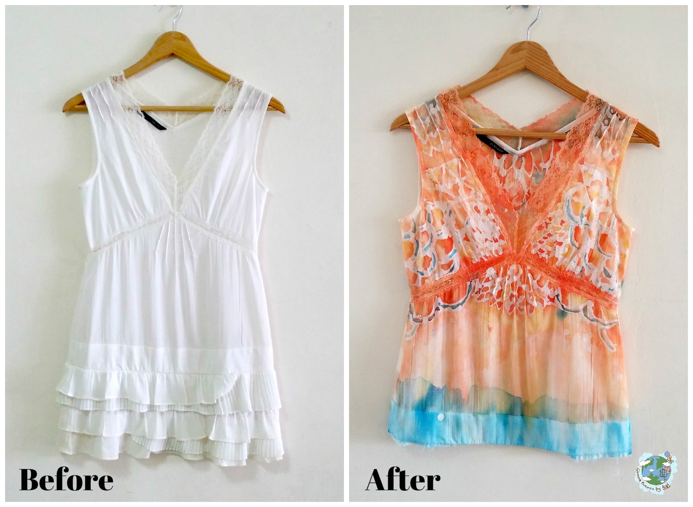 Upcycling using dyeing techniques