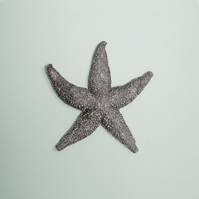 Starfish Reverse Pewter Wall Decor