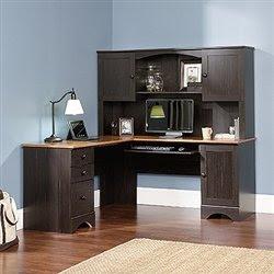 black desk black l shaped desk. Black Bedroom Furniture Sets. Home Design Ideas